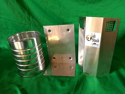 Stainless Steel Wall  Mount Ash/Stash CigaretteDisposal by Clean City