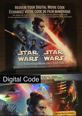 Star Wars The Rise Of Skywalker Digital From Blu-ray *READ* Canada