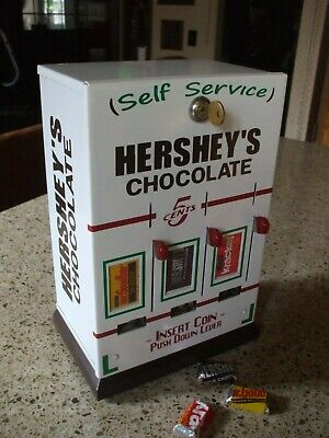 hershey's chocolate triple column vending machine diner candy mancave gameroom