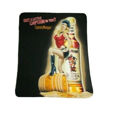 "Captain Morgan Spiced Rum Fleece Blanket Throw 58"" X 49"""