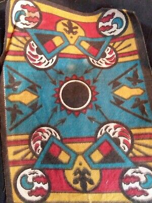 "Vintage Tobacco Premium Felt Native American Style Blanket 8"" x 6"" Aprox."