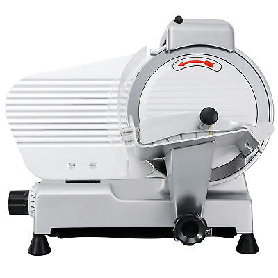 """Commercial Electric Meat Slicer 10"""" Blade 240w 530 rpm Deli Cheese Food cutter"""