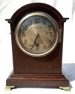 Antique W&H Winterhalder Hofmeier Bracket Mantel Clock Robert Jones Liverpool