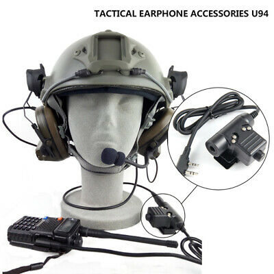 TACTICAL HEADSET MILITARY Earpiece for Kenwood 2PIN Baofeng