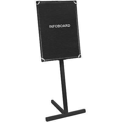 """MasterVision Letter Board Stand, Black/Silver Frame, 36""""W x 24""""H Board"""