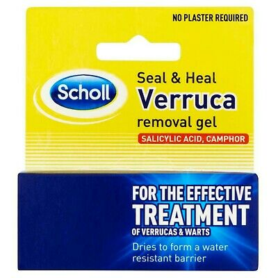 Wart Verruca Remover Gel - Scholl Removal Treatment Seal and Heal Salicylic Acid