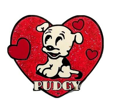 """Universal Studios Exclusive Betty Boop """"Pudgy"""" Heart Enamel Trading Pin"""