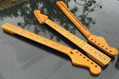 Stratocaster Maple Strat Neck, 22 fret Maple Fingerboard Vintage Amber Nitro NEW