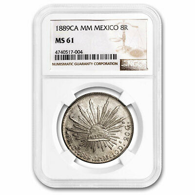 1889-Ca MM Mexico Silver 8 Reales MS-61 NGC - SKU#211200