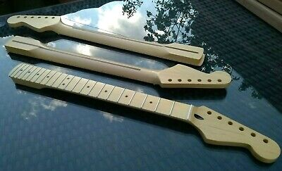 Stratocaster Maple Strat Neck, 22 fret Maple Fingerboard Unfinished NEW