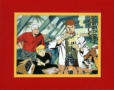 JONNY QUEST GANG IN THE LAB PRINT PROFESSIONALLY MATTED Hanna Barbera
