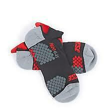 New Dainese D-Core Footie Socks Unisex Large Black/Red #201915956-606-L