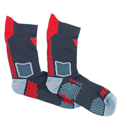New Dainese D-Core Mid Socks Unisex Large Black/Red #201915955-606-L