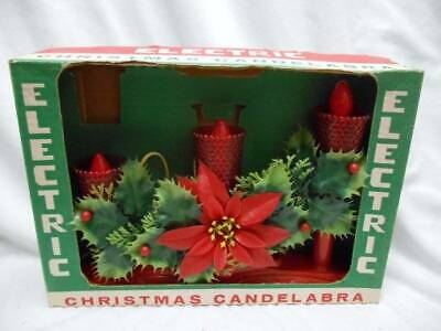 Mid Century Christmas BEACON ELECTRIC CHRISTMAS CANDELABRA Candle 5 sets