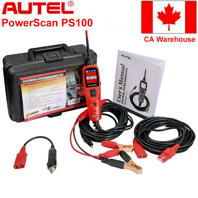 Autel PowerScan PS100 Electrical System Diagnostic Battery Testers Lead 12V/24V