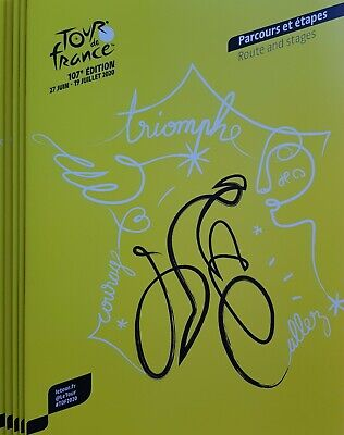 2020 Cycling Tour De France Official Programme (Route And Stages) All Destroyed