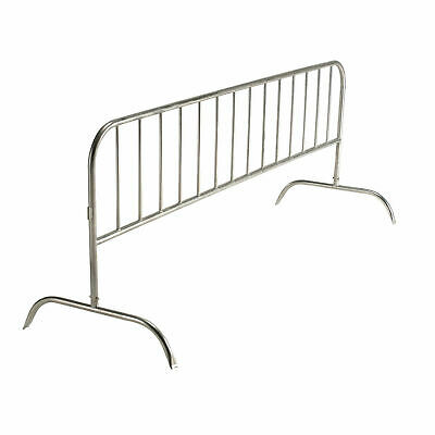 """Crowd Control Barrier, Gray Powder Coated Steel, 102""""L x 40""""H"""