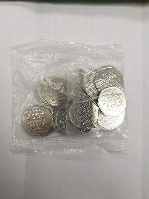 Brand New Uncirculated 2020 Brexit 50p x 20 Coins Sealed Bag.
