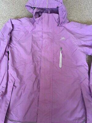Trespass Lilac Waterproof Windproof Jacket Age 9-10