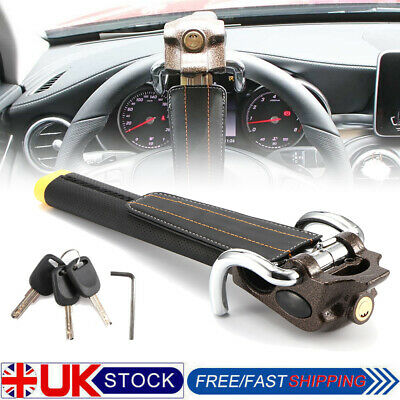 Car Steering Wheel Security Lock Auto Anti Theft Lock Air Bag Devices 3 Keys UK