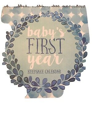 C. R. Gibson Keepsake Calendar Boy Baby's First Year