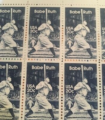 10 Vintage Babe Ruth stamps-- Baseball mail -perfect For A Yankee's  Fan