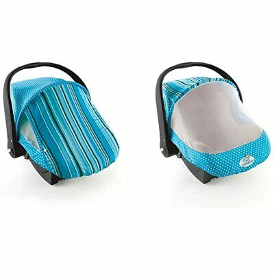 Cozy Cover Sun & Bug Infant Carrier Cover Blue Stripe for your Baby Protection.