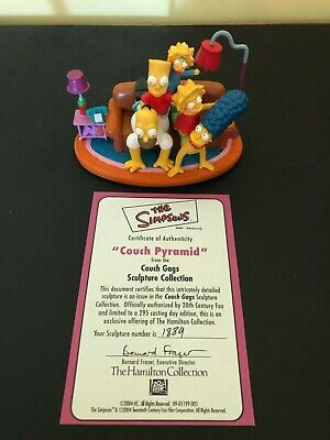 """The SIMPSONS- HAMILTON- """"COUCH PYRAMID"""" SCULPTURE Loose with Cert Card"""