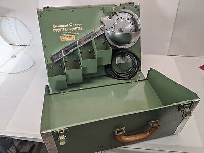 Vintage Standard Change Counter and Sorter model CS-100A - Works Good