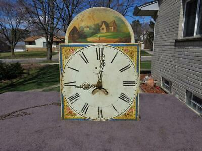 English Scottish Grandfather Clock Weight Driven Movement and Dial & Calendar