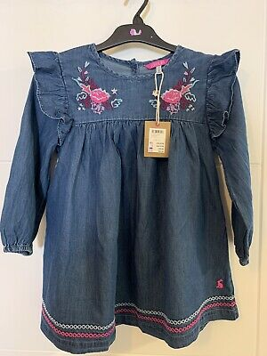 Girls Bnwt Joules Denim Tunic Top 9-10 Years RRP £35.95