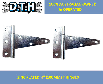 2 X 4'' (100Mm) Zinc Plated T Hinges