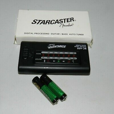 Starcaster By Fender Digital Processing Guitar/Bass Auto Tuner BC-650