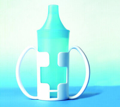 Two Handle Cup Holder with Non Spill Beaker - Drinking Aid. UK Care Direct