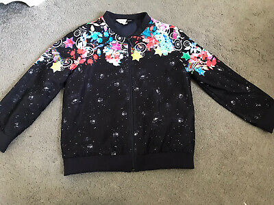 Preen Edition Girls Bomber Style Summer Jacket Floral With Stars 4-5 Years