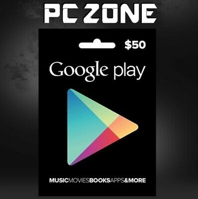 Google Play $50 USA Gift Card - 50 Dollar Google Play Store Android USD Code
