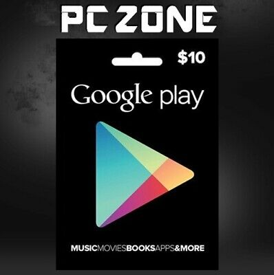 Google Play $10 USA Gift Card - 10 Dollar Google Play Store Android USD Code