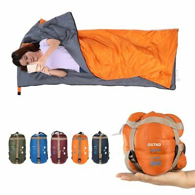 Outdoor Ultra-Light Sleeping Bag Adult Blanket Envelope Camping Hiking Caping MA