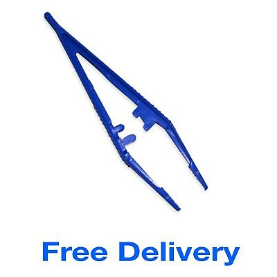 Plastic Tweezers Disposable First Aid Medical Craft Aquabeads Modelling School