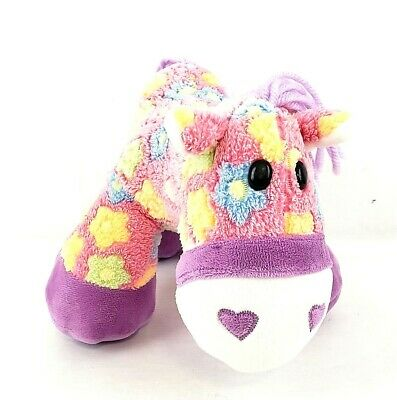 """Dan Dee Collector/'s Choice Pink Floral Pony Horse Plush Stuffed Animal 12/"""""""