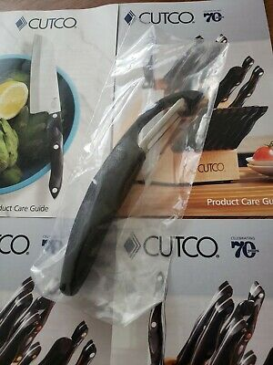 CUTCO Classic Black Handle Vegetable Potato Peeler Model #1501, USA Made NEW