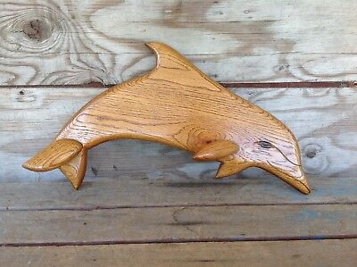 Cool Wooden Dolphin Wall Art - Signed