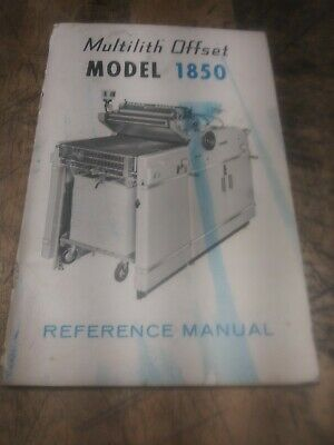 Original Multilith offset 1850 Reference Manual
