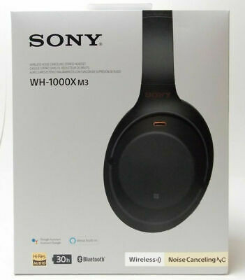 Sony WH1000XM3: Wireless Bluetooth Over The Ear Headphones Black