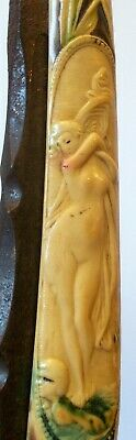 Antique Art Nouveau Straight RAZOR BLADE NUDE WOMAN Lady GERMANY