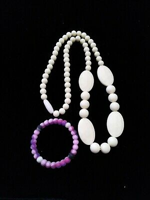Teething Necklace Cream Color For Mom And Baby