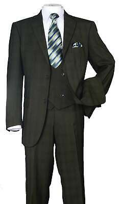 Men/'s 3 Piece Luxurious Suit With Vest/&Pants Two Button Two Side Vents 5702V6