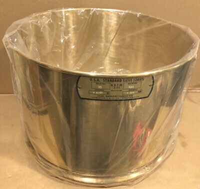 """Dual Manufacturing No. 35, 500 Microns, 0.0197"""" / 0.500 Standard Testing Sieve"""