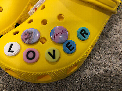 7 Taylor Swift, LOVER SHOE CHARMS For CROCS, Rare!