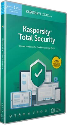 Kaspersky Total Security 2020 3 PC / Devices 1 Year Download Key EU